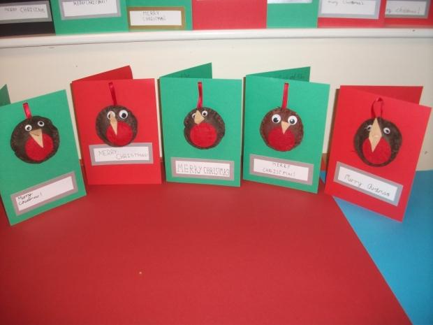 Christmas Card Art Ks2.Christmas Art Around School Wellgate Primary School Blog